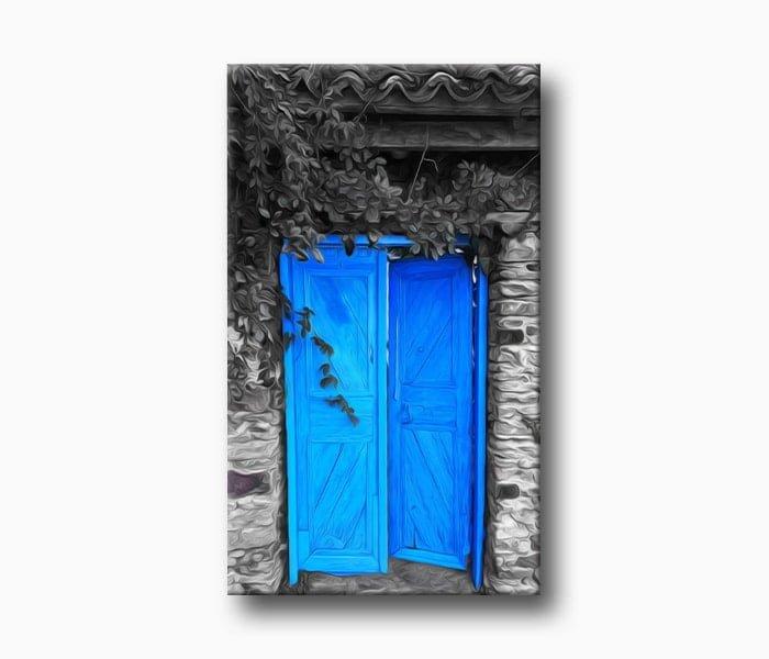 köy kapısı Sanatsal Yağlı Boya Efekti