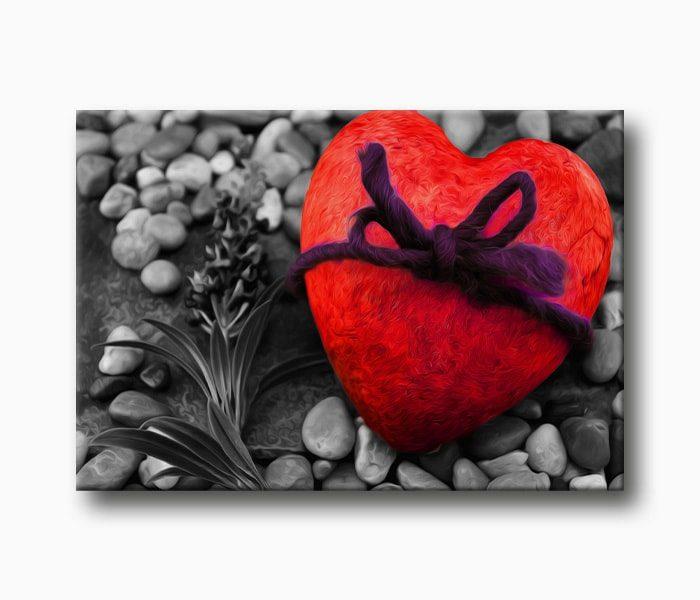 kırmızı kalp Sevgililer Günü Hediye