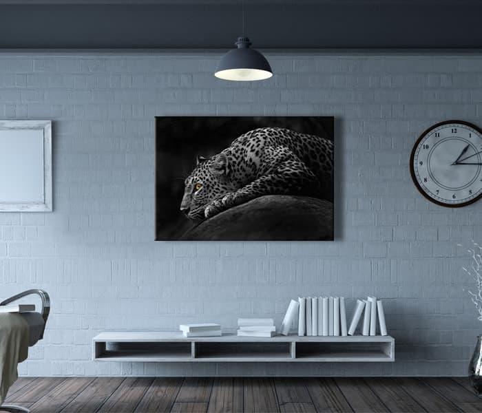 en güzel leopar tabloları