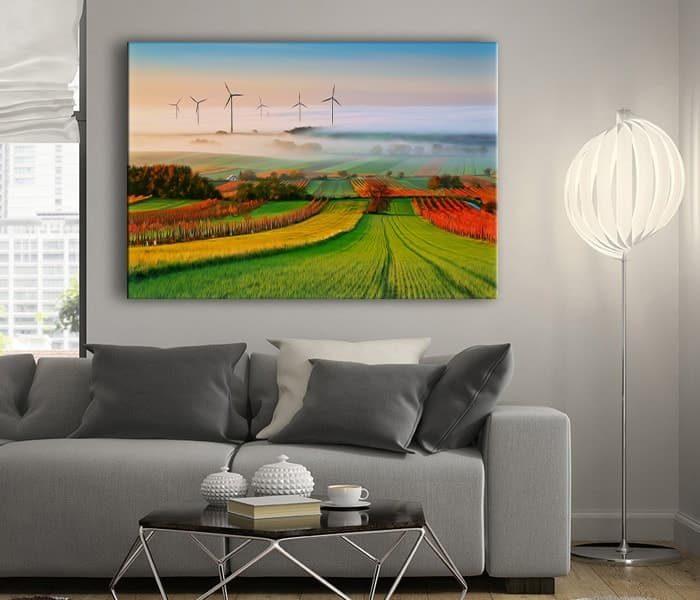 rüzgar gülü kanvas tablo