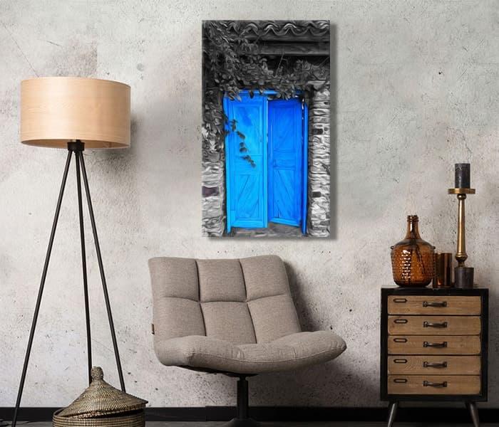 köy kapıları neden mavi