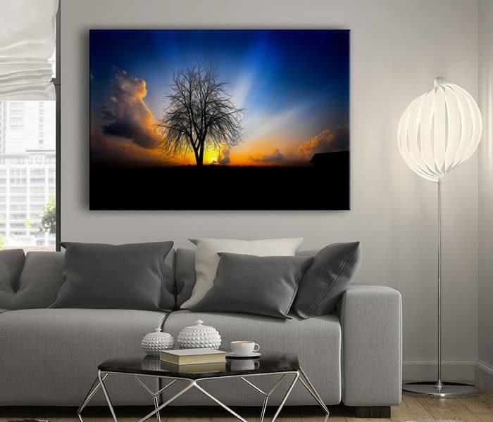 muhteşem gün batımı tablo