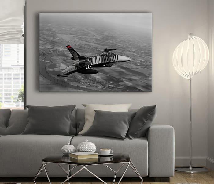 f16 uçağı solotürk tablo