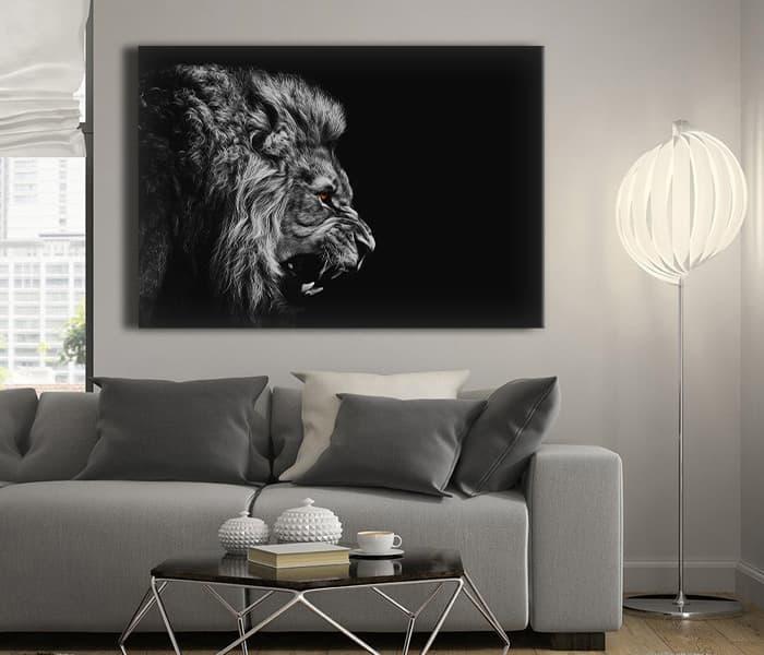 yağlı boya aslan tabloları