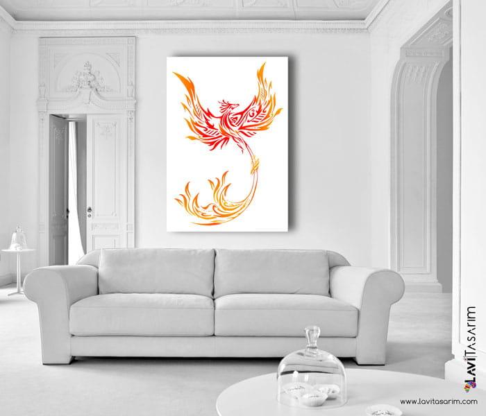 feng shui Phoenix kırmızı anka kuşu simurg