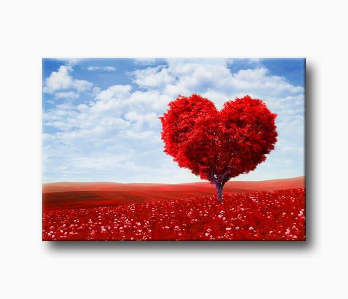 sevgi agaci sevgi aşk kanvas tabloları