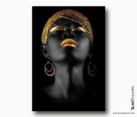 afrikali kadin kanvas tablo