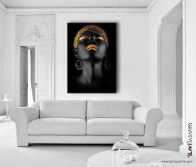 afrikalı zenci kadın kanvas tablo