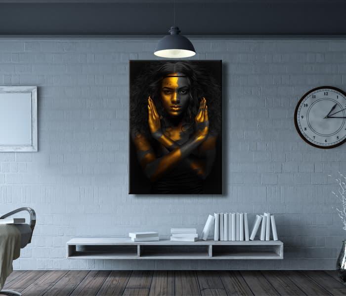 yellow black woman paint