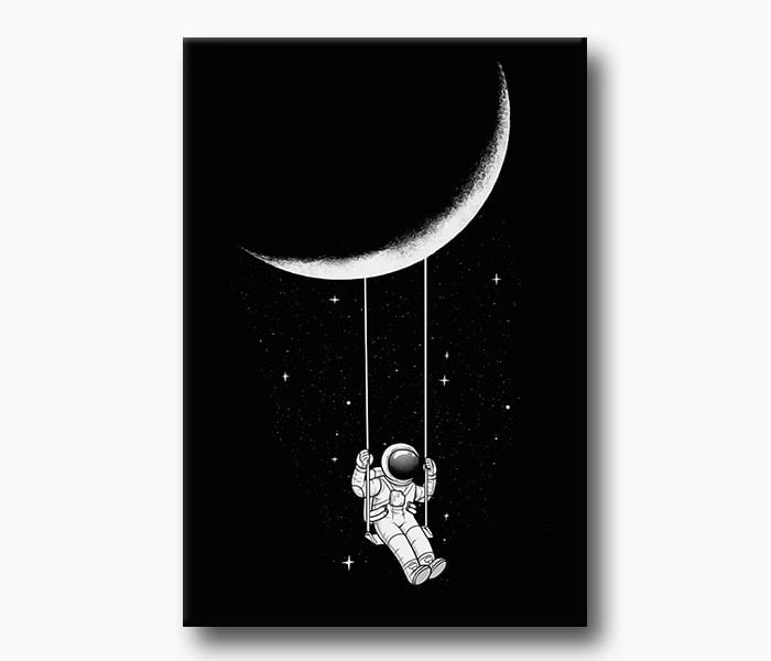 uzay kanvas tablo lavi tasarım