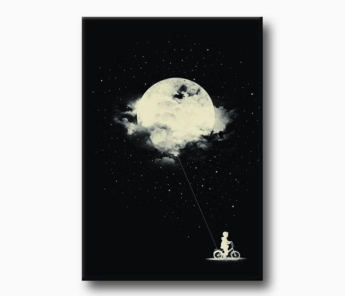 uzay ve bilim kurgu kanvas tablo