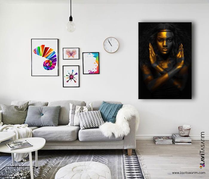 zenci kadin tabloları istanbul