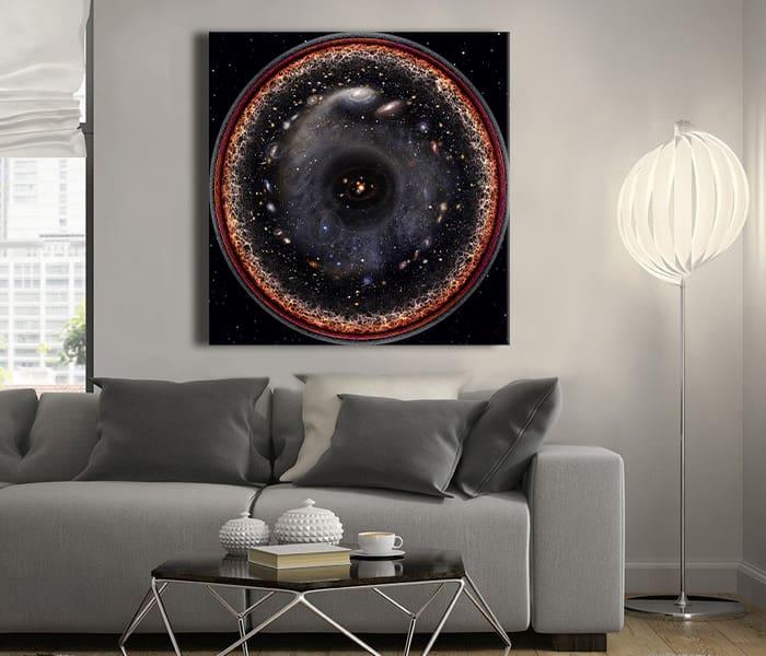içinde her şey olan resim evrenin logaritmik resmi