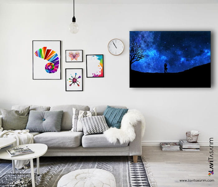 lavi tasarım sevgiliye kanvas tablo