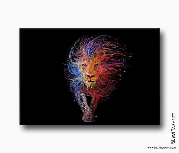 aslan resmi, lavi tasarım