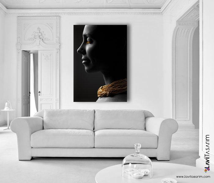 güzel kadın kanvas tablo