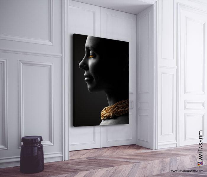 zenci kadın kanvas tablo