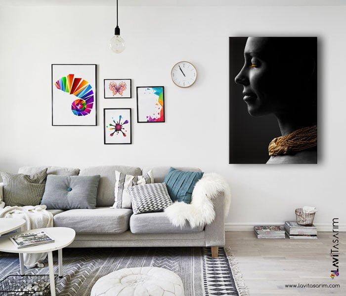 zenci afrikalı kadın tablo