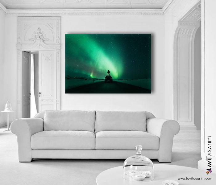 kuzey ışıkları tablo,kuzey ışıkları nerede