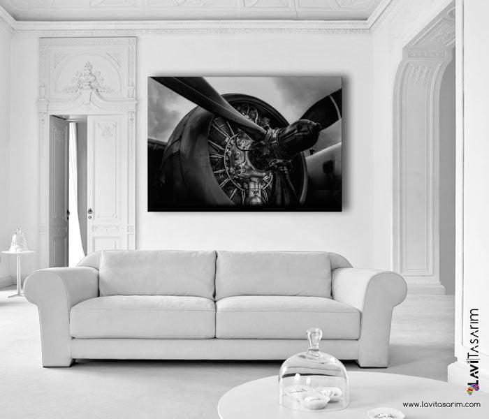 uçak motoru sanatsal kanvas tablolar