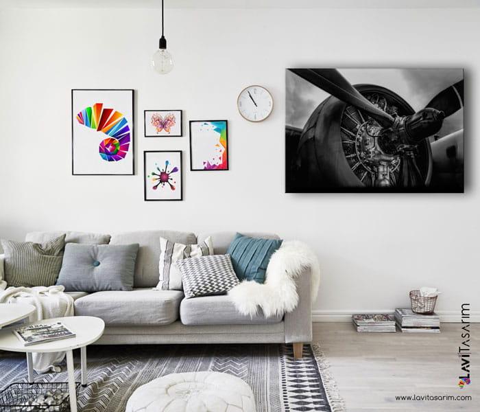 uçak motoru tablo