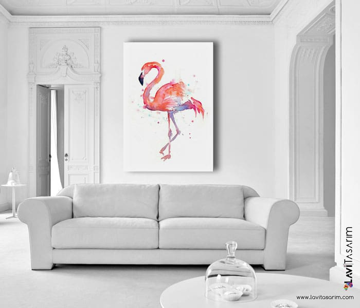 lavi tasarım,sanatsal kanvas tablo,allı turna kuşu
