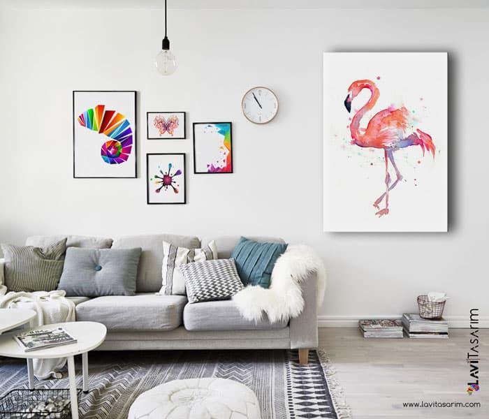 kuş tabloları,yağlı boya kuşlu tablolar,en güzel hayvan tabloları