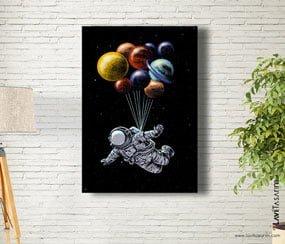 Uzay Temalı Tablolar