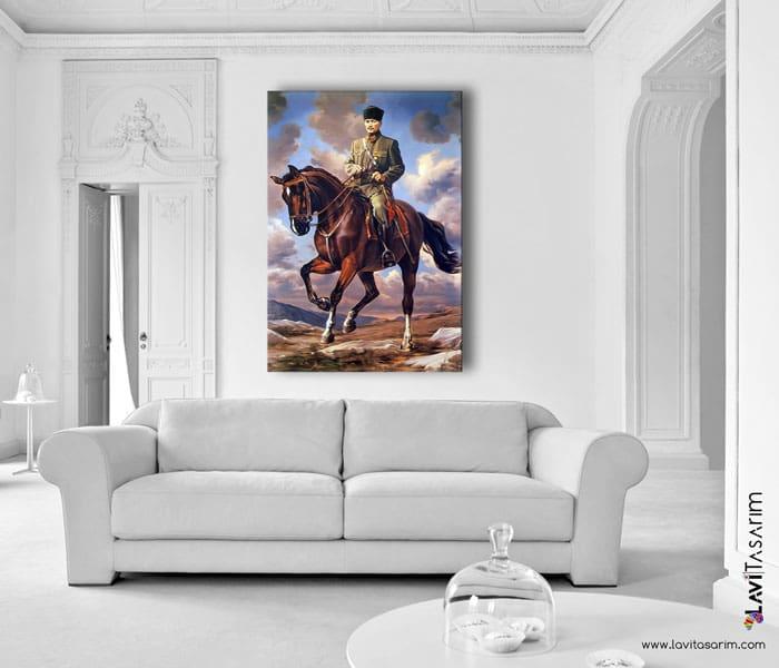 atlı atatürk tablosu,atatürk'ün atı sakarya