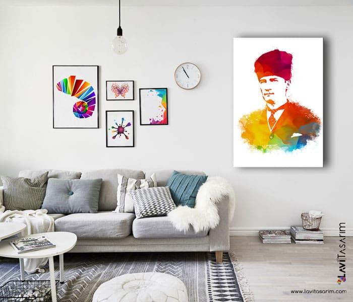 atatürk kanvas tablo satın al