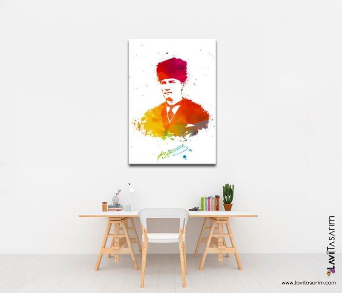 atatürk tabloları kanvas