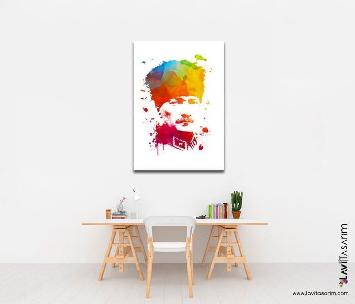 atatürk portresi kanvas satın al,atatürk kanvas tablosu,m.kemal