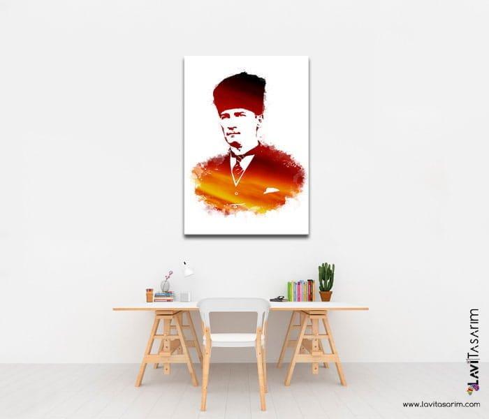 ataturk samsun kanvas tablo