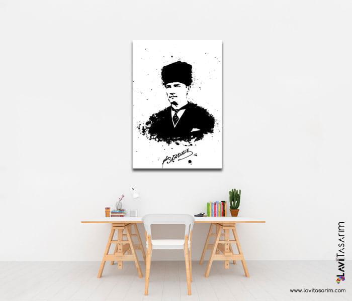 karakalem atatürk portreleri