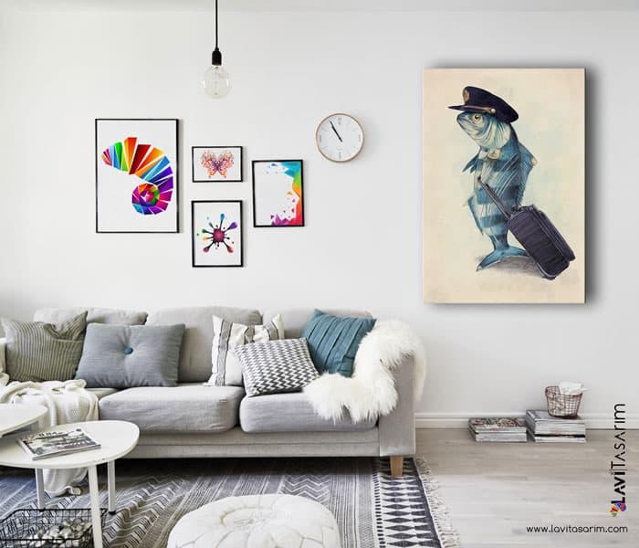 en güzel balık fotoğrafları,balık tablosu,balık kanvas tablo