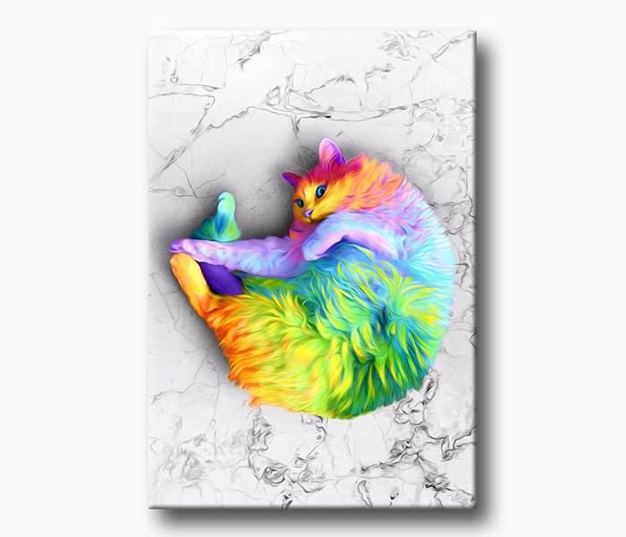 en güzel kedi kanvas tablo