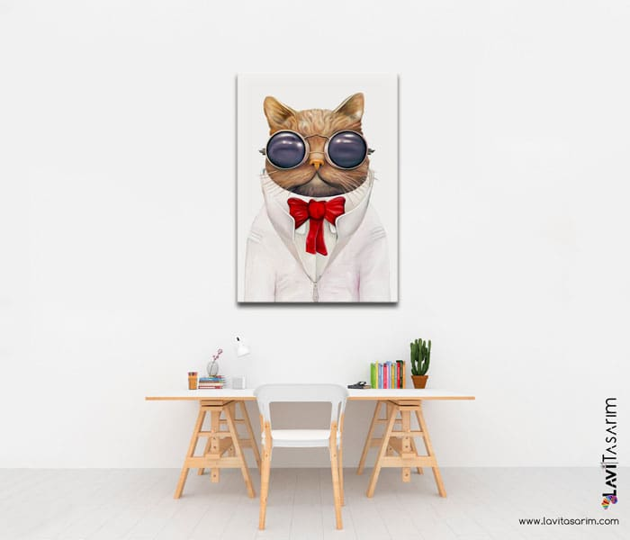 komik hayvan kanvas tablo,mizah,karikatür kanvas tablo