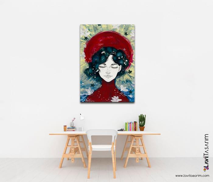 modern kanvas tablolar,modern yağlı boya tablolar