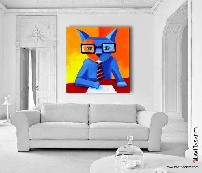 lavi tasarım,lavi tasarim,kedi,kedi tabloları