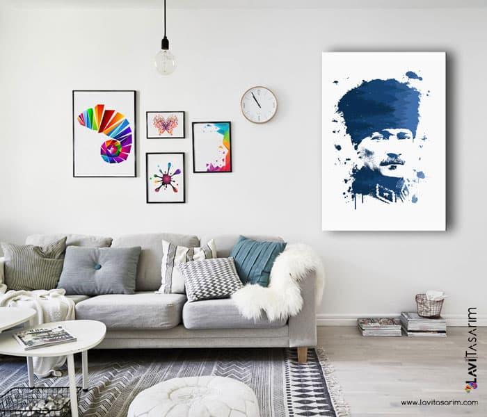 kalpaklı atatürk portresi satın al,kalpaklı atatürk posteri