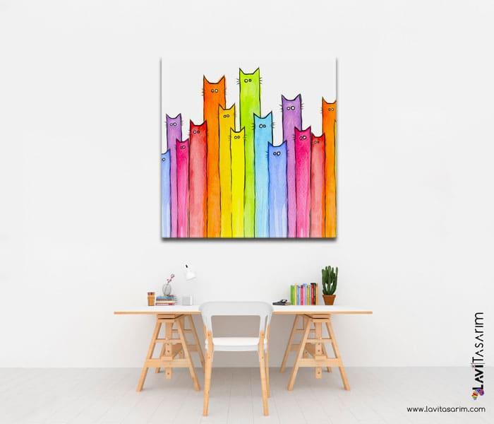 en güzel çocuk odası tabloları,çocuk odası kanvas tablo,lavi