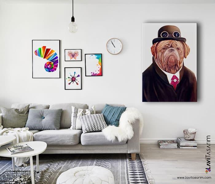 komik köpekler,komik köpekler tablosu,komik köpekler kanvas tablo