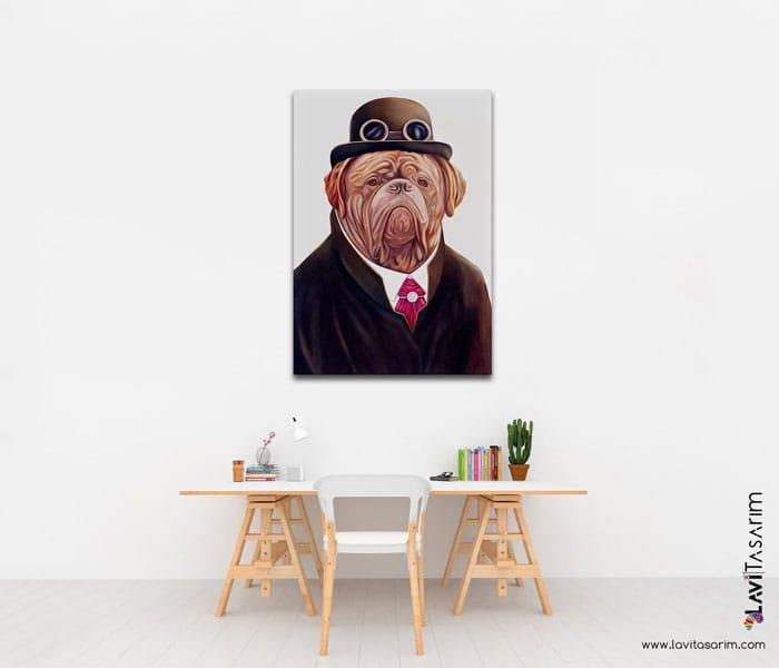 köpek tabloları,köpek kanvas tablo,adana tablo