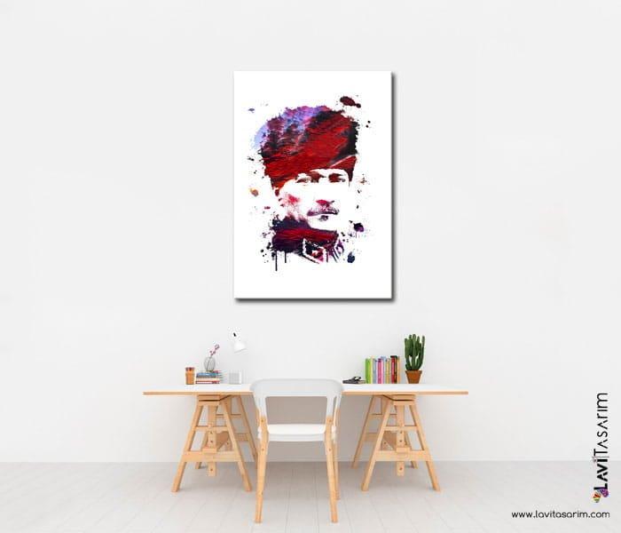 mustafa kemal atatürk tabloları,izmir tablo