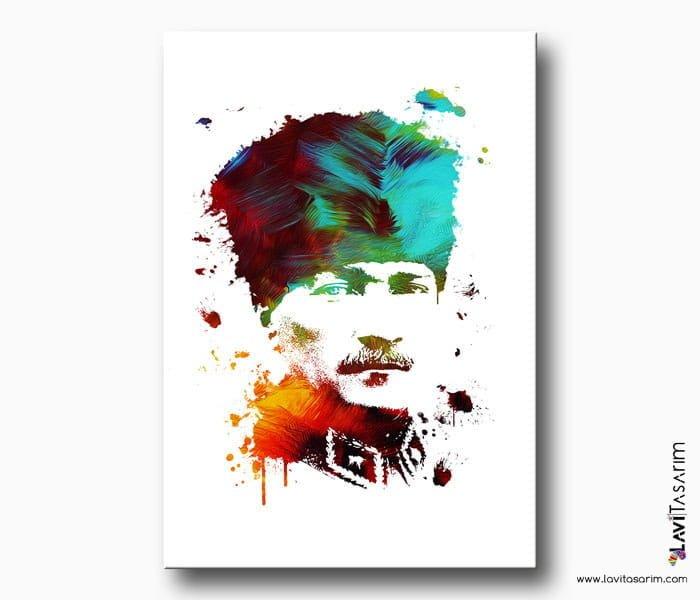 renkli atatürk portresi