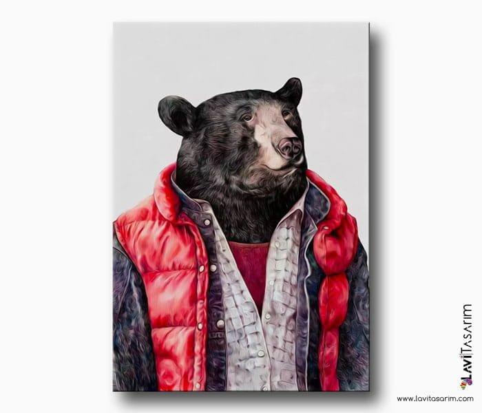 siyah ayı tablo