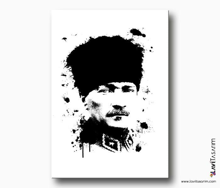 siyah beyaz atatürk portresi