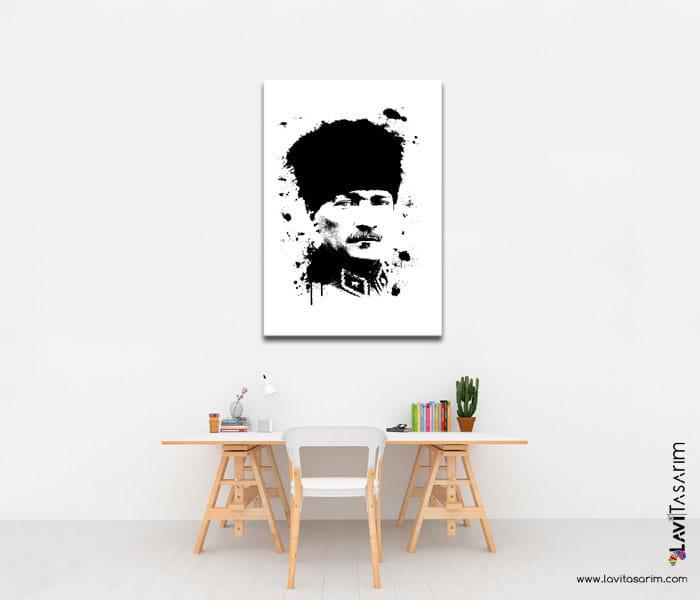 siyah beyaz atatürk portre,atatürk portre siyah beyaz,atamız