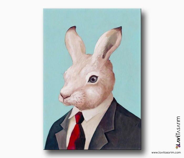 tavşan kanvas tablo