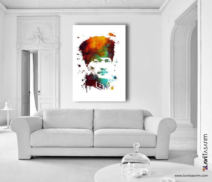 atatürk,lavi tasarım,yağlı boya atatürk tablosu